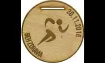 Dřevěná medaile Děvín