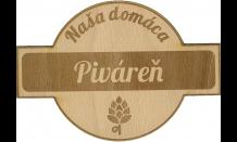Dřevěný pivní tácek Bratislava