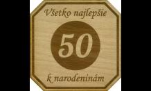 Dřevěný pivní tácek Brno