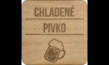 Dřevěný pivní tácek Plzeň
