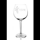 Gravírovaná sklenice na víno 0,59L 026649