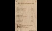 Dřevěný jídelní lístek A4 jednostranný