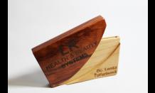 Luxusní dřevěný vizitkář 026521