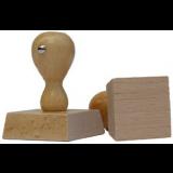 Čtvercové dřevěné razítko 100x100 mm