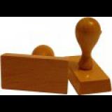 Hranatá dřevěná razítka