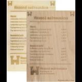 Dřevěné jídelní lístky