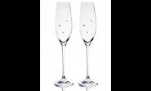 Sada svatebních pohárů Madrid + Swarowski krystaly - 2 x 210 ml
